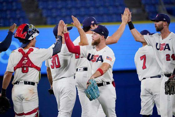 7日に侍ジャパンと対戦する野球米国代表【写真:AP】