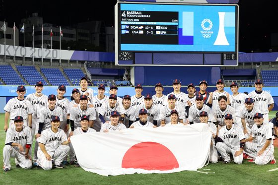 金メダルを獲得した侍ジャパン【写真:Getty Images】
