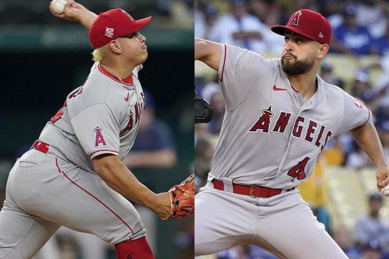 地元紙がエンゼルスの若き投手陣に注目【写真:AP】