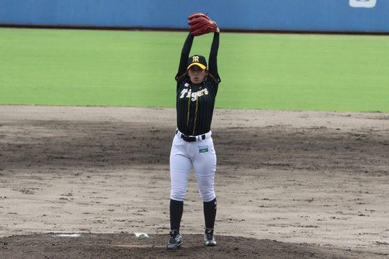 阪神タイガースWomenの坂東瑞紀【写真:川村虎大】