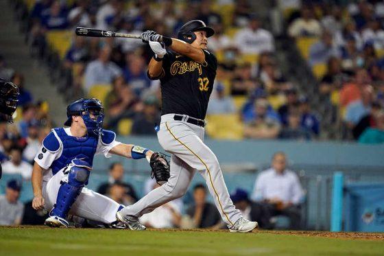 「4番・一塁」で先発したパイレーツ・筒香嘉智【写真:AP】