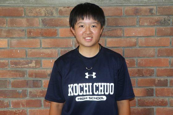 昨年11月から高知中央に野球留学している黄晴(こう・せい)【写真:川村虎大】