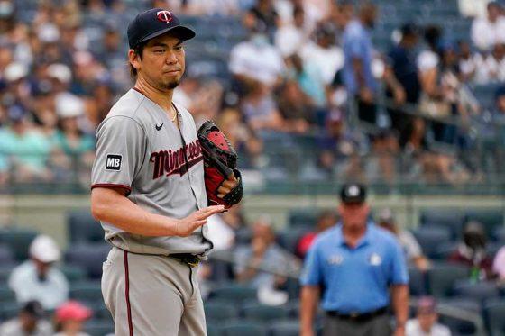 ヤンキース戦に先発したツインズ・前田健太【写真:AP】