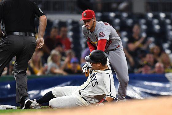 三塁打を放ったパイレーツ・筒香嘉智【写真:Getty Images】