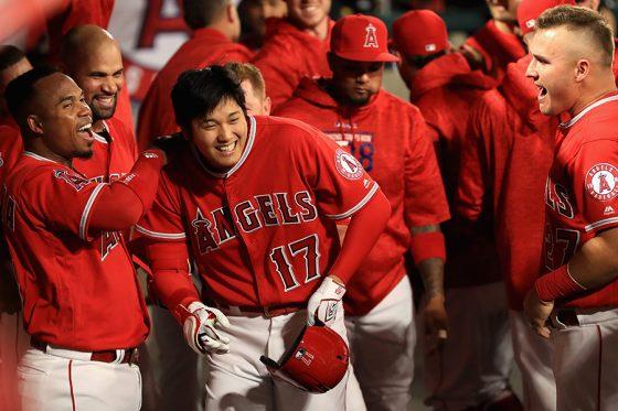 メジャー初本塁打を放ったエンゼルス・大谷翔平【写真:Getty Images】
