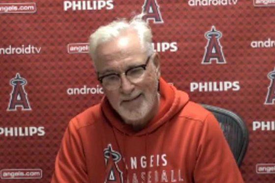 試合後の会見に応じたエンゼルスのジョー・マドン監督(画像はスクリーンショット)