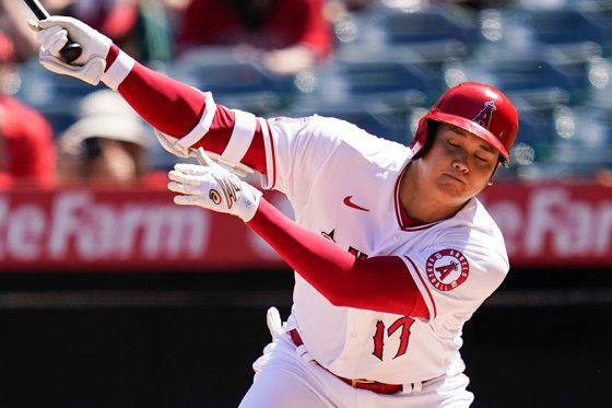 「2番・指名打者」で先発出場したエンゼルス・大谷翔平【写真:AP】