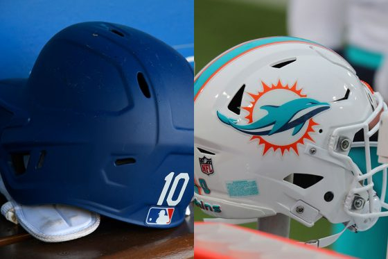MLB+NFLのコラボヘルメットにファン絶賛【写真:AP】