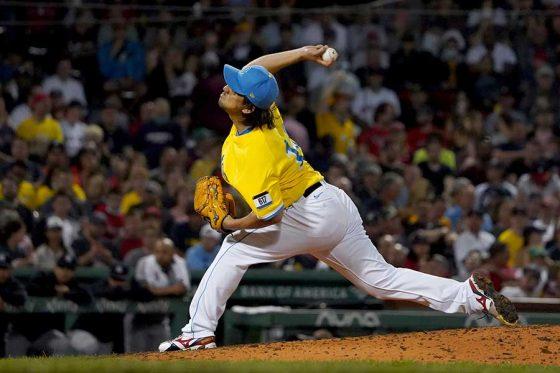 ヤンキース戦に登板したレッドソックス・澤村拓一【写真:AP】