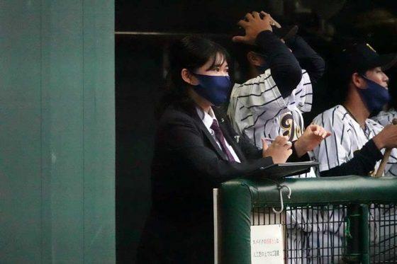東海大主務・小川美優さん【写真:川村虎大】