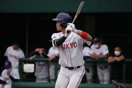 「7番・一塁」で先発した帝京大・島野圭太【写真:川村虎大】