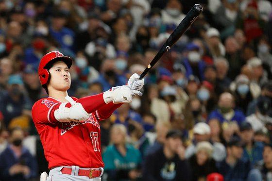 「2番・指名打者」で先発出場したエンゼルス・大谷翔平【写真:Getty Images】