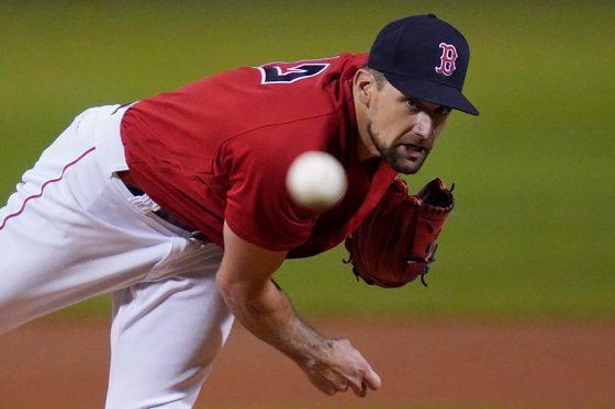 ヤンキース戦に先発したレッドソックスのネイサン・イオバルディ【写真:AP】