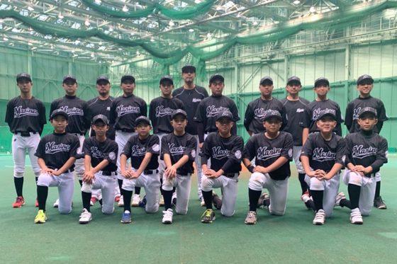 「マリーンズ・ジュニア2021」のメンバーたち【写真提供:千葉ロッテマリーンズ】
