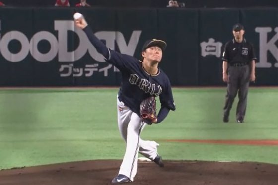 ソフトバンク戦に先発したオリックス・山本由伸【画像:パーソル パ・リーグTV】