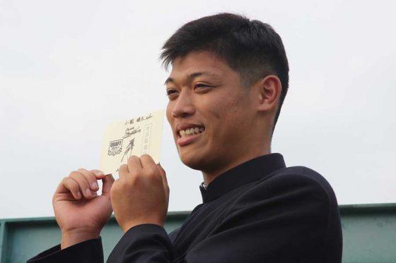 DeNAから1位指名を受けた市和歌山の小園健太【写真提供:横浜DeNAベイスターズ】